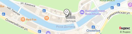 Деловой на карте Сочи
