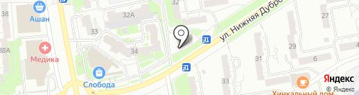 Магазин свежей выпечки на карте Владимира