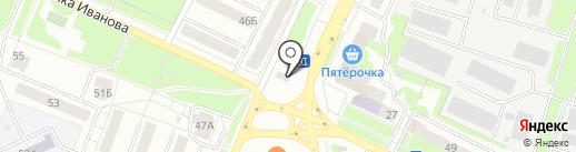 Цветочный блюз на карте Владимира