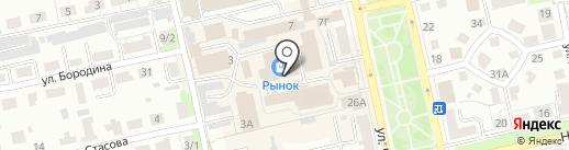 Лайн-пластик на карте Владимира