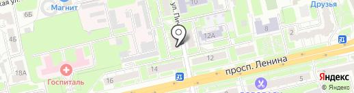 Гастроном на Пичугина на карте Владимира