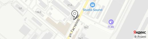 Профсталь-Владимир на карте Владимира
