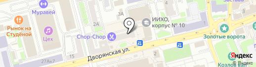 Золотая стрекоза на карте Владимира