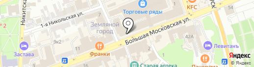 Кольчугинский мельхиор на карте Владимира