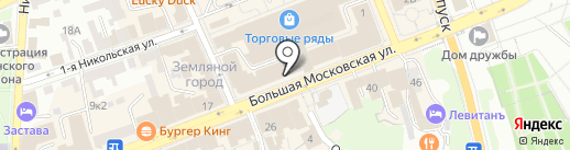 Обувь большого города на карте Владимира