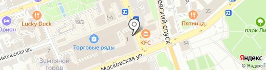 Лестница на карте Владимира