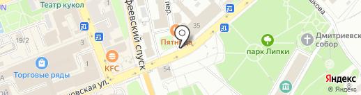 Коно-пицца на карте Владимира