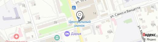 Борисовское на карте Владимира