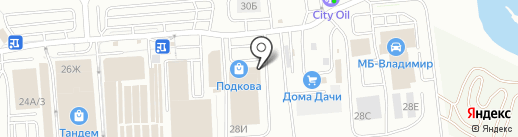Мебель России на карте Владимира