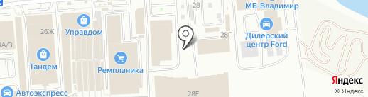 Резина 33 на карте Владимира