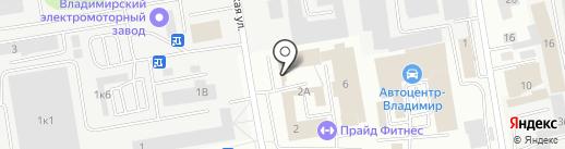 Автокраска 1 на карте Владимира