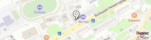 Триника на карте Владимира