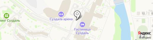 Кемпинг на карте Суздаля