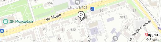 Монес на карте Владимира
