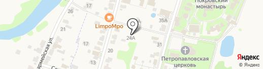 Лимпомпо на карте Суздаля