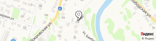 Витальница на карте Суздаля