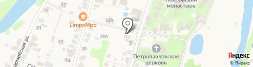 Покровская лавка на карте Суздаля