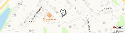 На Туристической на карте Суздаля