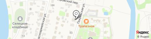 На Покровской на карте Суздаля