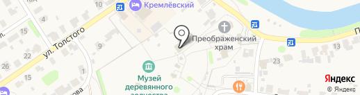 Дом зажиточного крестьянина Кузовкина на карте Суздаля