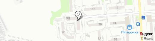 Теза, ТСЖ на карте Владимира
