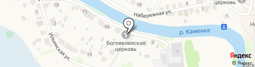 Богоявленская церковь на карте Суздаля