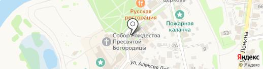 Сувениры у Кремля на карте Суздаля