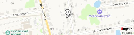 У пенёчков на карте Суздаля