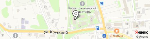 Ризоположенская на карте Суздаля