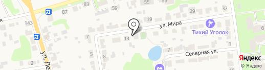 У звонницы монастыря на карте Суздаля