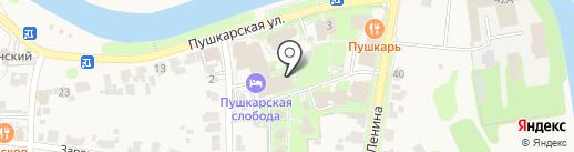 Мещерский скит на карте Суздаля