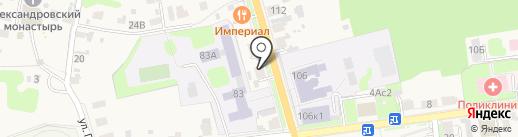 Нотариус Дубынина Н.В. на карте Суздаля