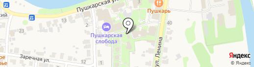 Сувенирная лавка на карте Суздаля