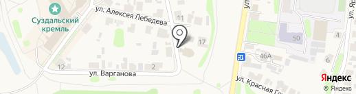 Никольская церковь на карте Суздаля
