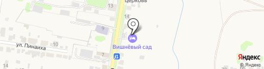 Вишневый сад на карте Суздаля