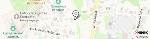 Onegin на карте Суздаля