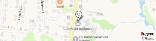 Суздальская швейная фабрика на карте Суздаля