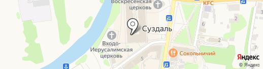 Суздальский Гончарный Двор на карте Суздаля