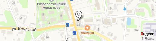 Молодежная на карте Суздаля