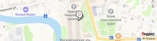 Магазин сувениров и посуды на карте Суздаля