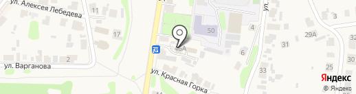 У кремля на карте Суздаля