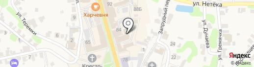 ВЕЛИЙ на карте Суздаля