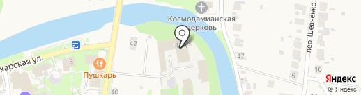 Суздальреставрация на карте Суздаля
