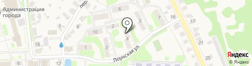 На Лоунской Улице на карте Суздаля