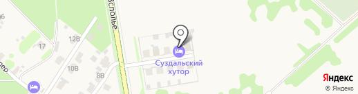 Суздальский Хутор на карте Суздаля