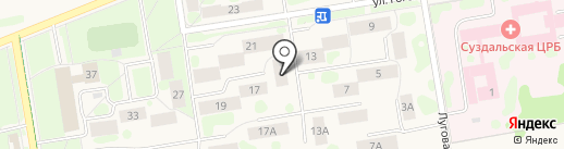 ABC на карте Суздаля