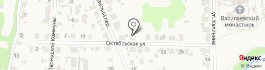 Васильевская Слобода на карте Суздаля