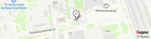 Суздальская горэлектросеть на карте Суздаля