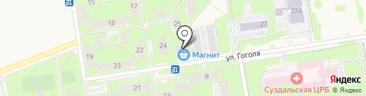 Блеск на карте Суздаля