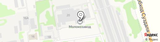 СУЗДАЛЬСКИЙ МОЛОЧНЫЙ ЗАВОД на карте Суздаля